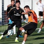 Real Madrid Hazard Courtois entrenamiento
