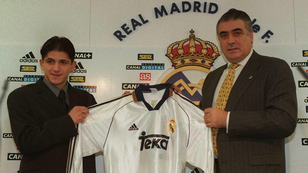 Ognjenovic Real Madrid Lorenzo Sanz presentacion