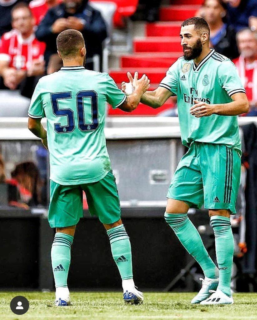 Karim Benzema Eden Hazard Real Madrid