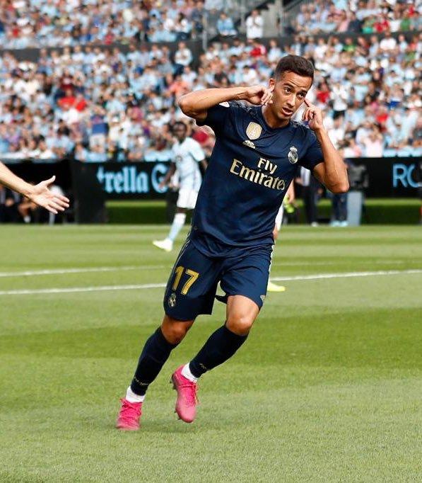 Lucas Vazquez celebración gol Balaidos Real Madrid Celta