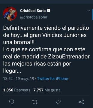 Cristóbal Soria Vinícius Jr Real Madrid