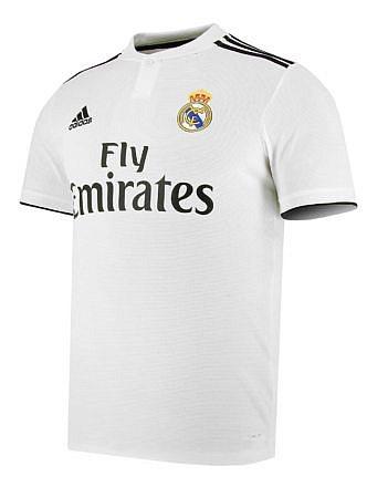 Camiseta 1ª Equipación Real Madrid. Temporada 2018-2019. Licencia LFP.