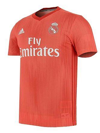 Camiseta 3ª Equipación Real Madrid. Temporada 2018-2019. Licencia LFP
