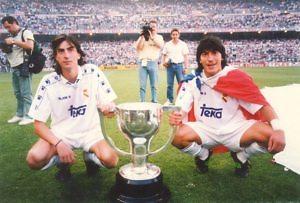 amavisca zamorano celebracion liga real madrid