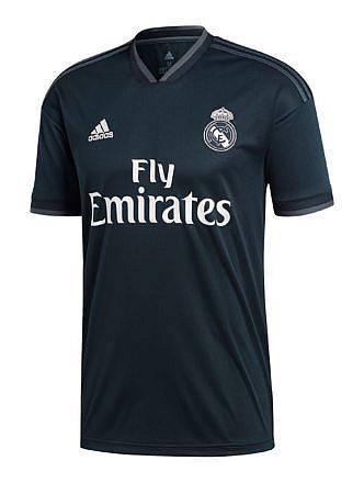 Camiseta 2ª Equipación del Real Madrid. Temporada 2018-2019. Licencia LFP.