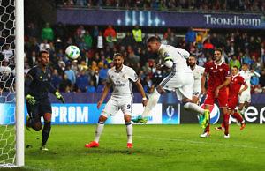 Supercopa Europa Sergio Ramos Real Madrid Sevilla gol