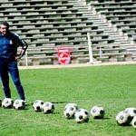 Miguel Muñoz entrenador real madrid estadio chamartín entrenamiento