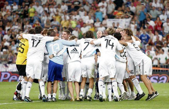 El Real Madrid y el Valencia en la Supercopa de España
