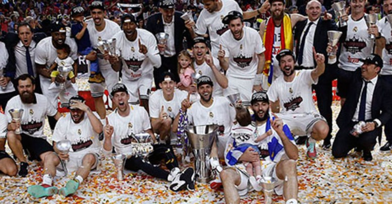 celebracion euroliga real madrid 2015