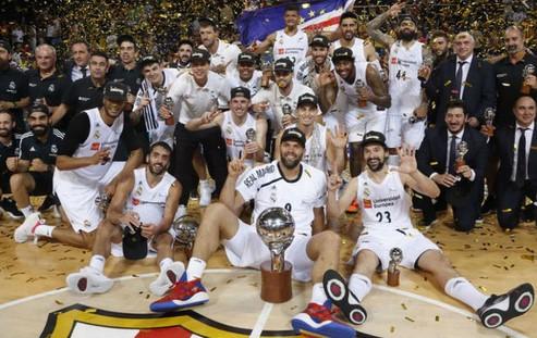 celebracion real madrid palau blaugrana liga acb