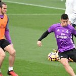 gareth bale james rodríguez real madrid entrenamiento