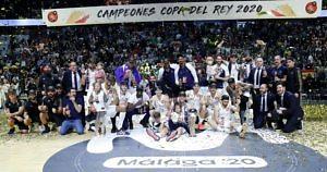 real madrid baloncesto celebracion campeones copa 2020