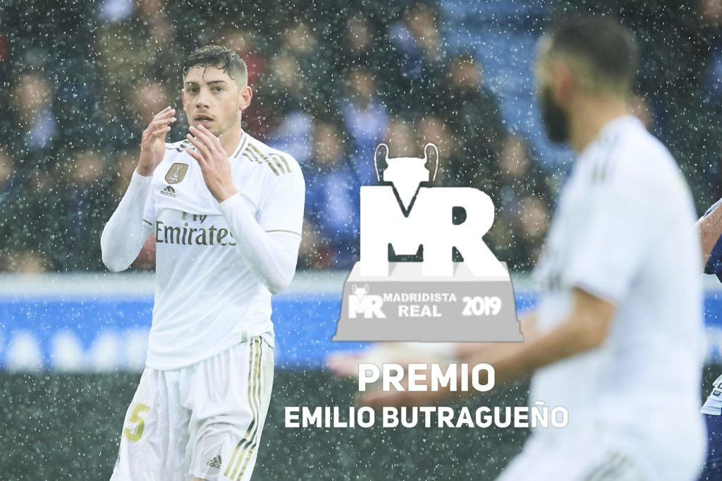 premio butragueño 2019 fede valverde premios madridistareal