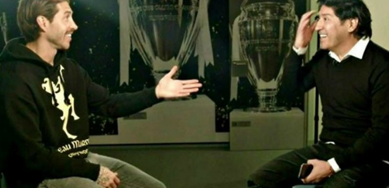 Zamorano felicita a Sergio Ramos