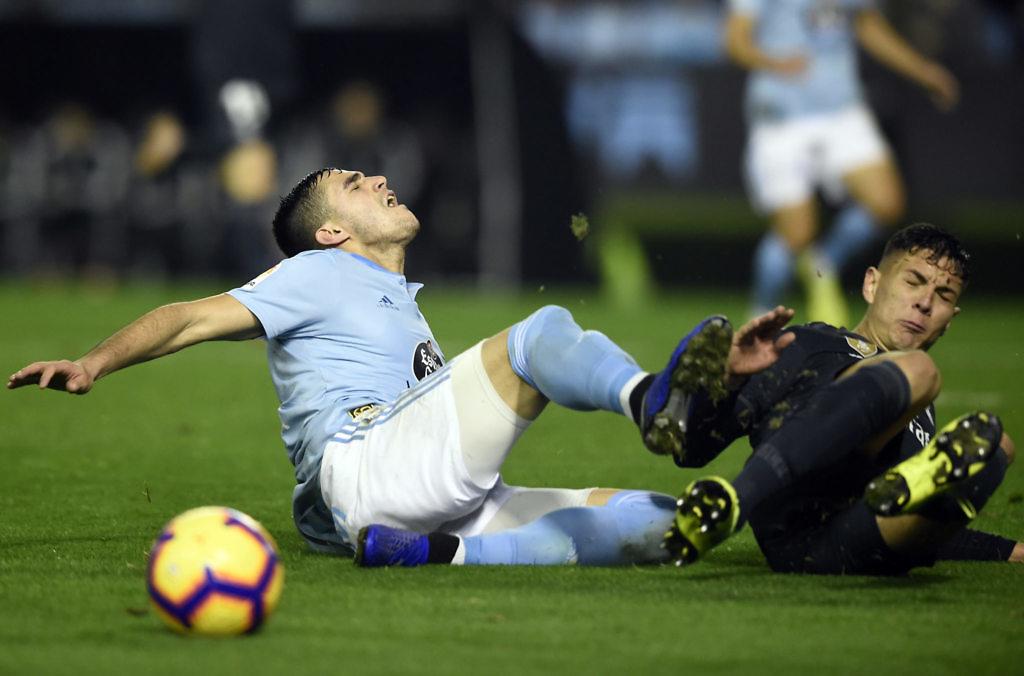 javi sanchez real madrid debut celta liga