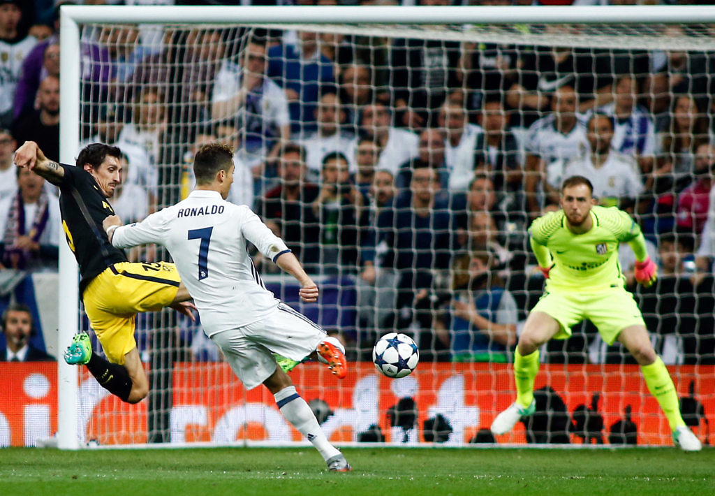 cristiano ronaldo real madrid atletico champions gol