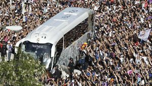 real madrid llegada bus