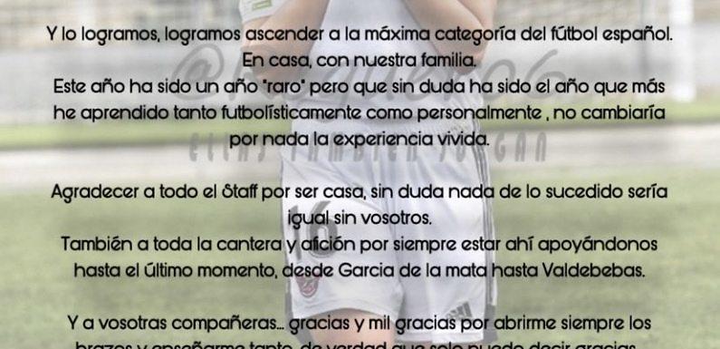 Mercado de fichajes | Otra despedida en el CD Tacon, Marina Martín