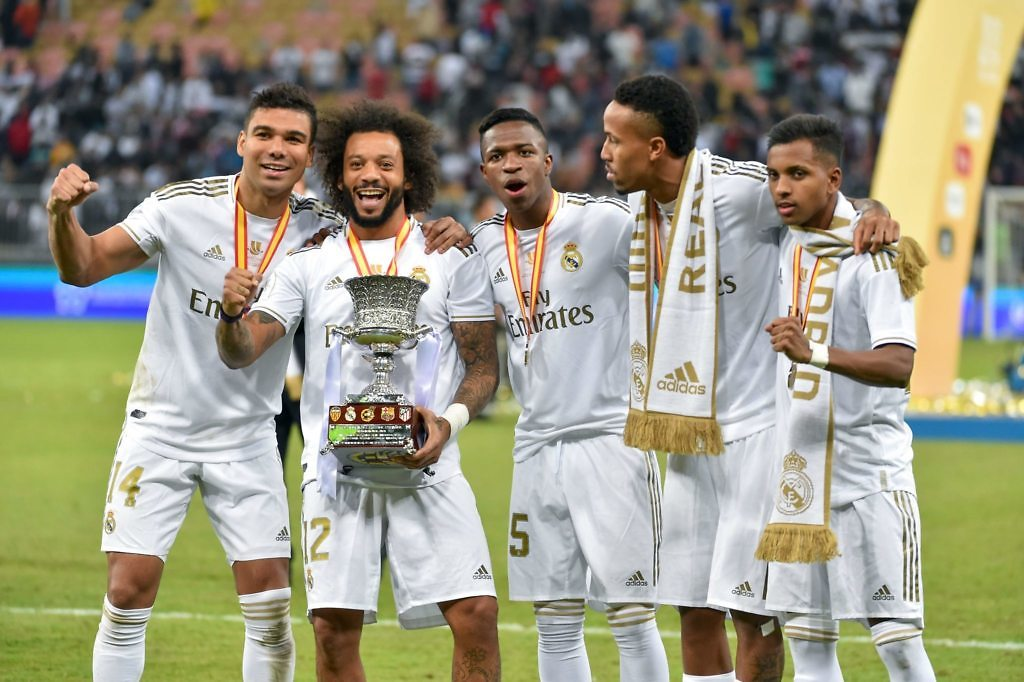 vinicius jr casemiro marcelo real madrid