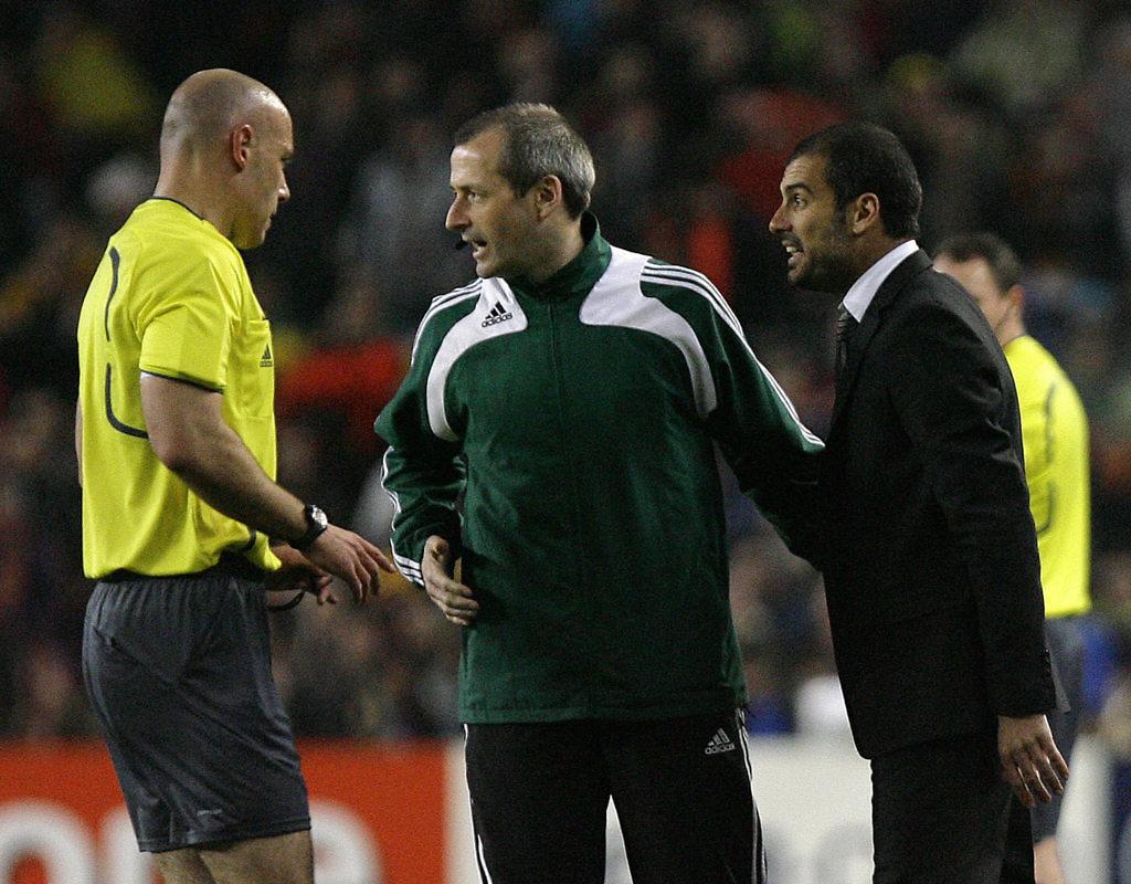 guardiola protestas árbitro
