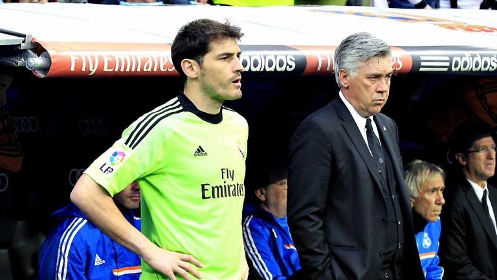 iker casillas ancelotti banquillo real madrid