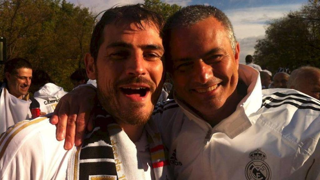 iker casillas mourinho real madrid celebracion