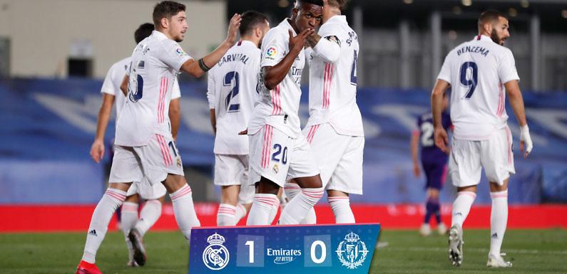 Vinicius desatasca a un Madrid sufridor