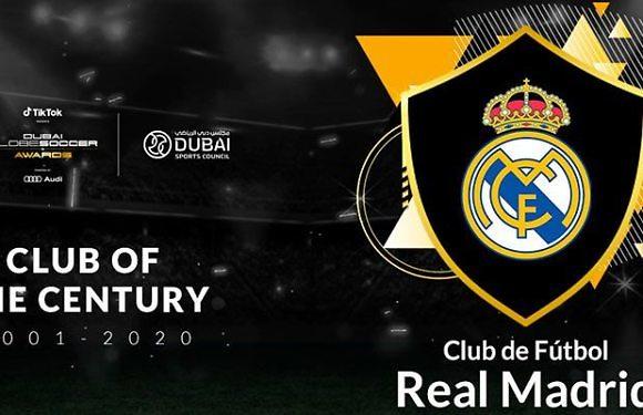 El Real Madrid, Mejor Club del Siglo XXI en los Globe Soccer Awards 2020