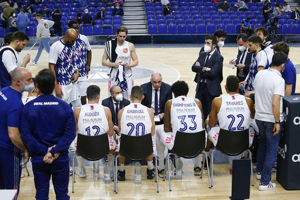 pablo laso tiempo muerto real madrid baloncesto copa acb 2021