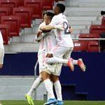 celebracion gol benzema real madrid atleti