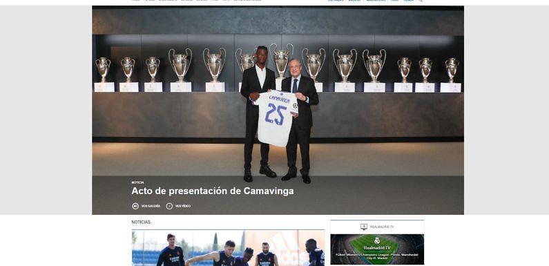 La web del Real Madrid, la más visitada del mundo por quinto año consecutivo