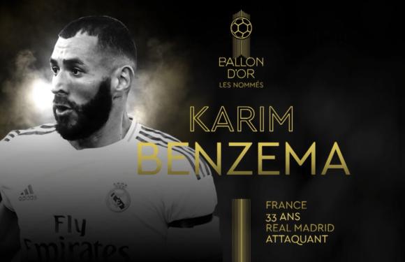 Benzema y Modric, entre los nominados al Balón de Oro 2021